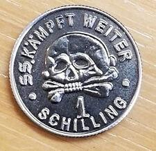 WW2 WWII German silver coin SS Kampft Weiter 1 Schilling Kantine bar money