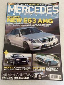 Mercedes Enthusiast September 2009.   E63 AMG. Wide Boy Sec. Old SL Restored.