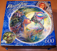 RoseArt Moonglow 600 pc Round Jigsaw Puzzle - Complete - Glows in the Dark