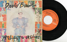 "DAVID BOWIE - Ashes To Ashes / Move On, SG 7"" SPAIN 1980"