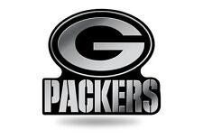Green Bay Packers Plastic Chrome 3D Emblem Automotive Car Truck Vehicle NFL