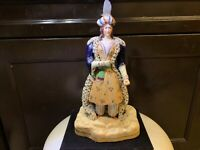 "Rare Antique Staffordshire Figure 1830s 12"" Persian Prince Arab HTF! Cobalt Blue"