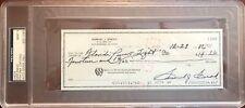 1986 Sam Snead Signed Check PSA MINT 9 Slabbed & Estate Certified Golf HOF