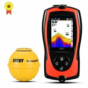 Rechargeable Wireless Sonar Fishing 45M Water Depth Echo Sounder Finder Portable