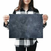 A3 - Dark Stone Slate Wall Colour Poster 42X29.7cm280gsm #21449