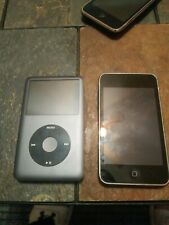 Lot 2 Mix Apple iPod Classic160Gb/16Gb * As Is For Parts or Repair *
