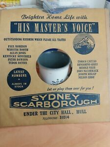 """Vintage """"RECORD SLEEVE"""" for 78 rpm Record, Advertising Store in hull"""