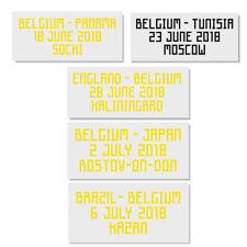 WM 2018 Belgien Belgique match details print Shirt Trikot Maillot World Cup 18