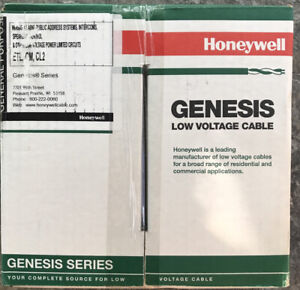 Honeywell Genesis Low Volt Cable 18/2 Comm. Speaker Power Limited 500 FT. REELEX