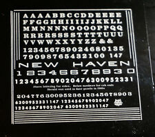 NEW HAVEN DECALS & LETTERING VINTAGE ELECTRIC & STEAM LOCOMOTIVE - NEW OLD STOCK
