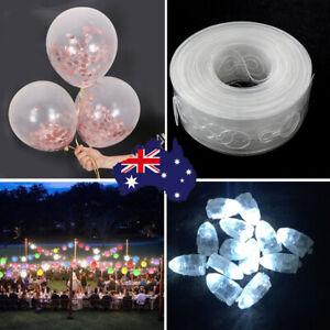 10x Confetti Balloon+50x LED Balloon White Light+1x 5M Double Hole Balloon Strip