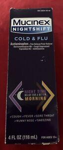 Mucinex Nightshift Cold & Flu Liquid, 4 fl. oz. Ages 12+ EXP: 05/21