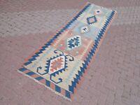 "Anatolian Turkish Kilim Runner Carpet Runner Hallway Corridor Long Rugs 38""x125"""