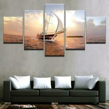 Sail Ocean Sea Hobby Ship HD 5 piece Art Poster Wall Home Decor Canvas Print