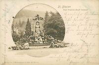Ansichtskarte St. Blasien 1900 Ernst Friedrich Krafft-Denkmal  (Nr.760)