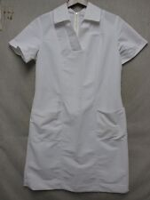 V5951 Paragon Uniforms White Deep V-neck USA 60's Dress Women 20