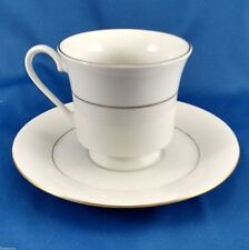 Sakura Classic Gold Cup and Saucer White Porcelain with Gold Trim Tea Coffee