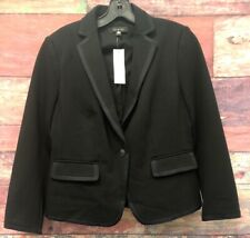 NEW Ann Taylor Loft Size 6 Black One Button Blazer Jacket (159.00)