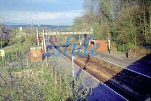 BRITISH RAILWAYS WENNINGTON STATION LANCASTER 1985 ORIGINAL SLIDE+COPYRIGHT