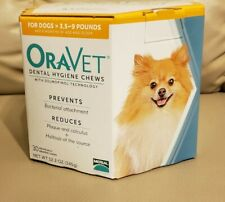 Oravet Dental Hygiene Chews XS Dogs 3.5-9lbs 30ct By Merial EXPIRED 6/2018