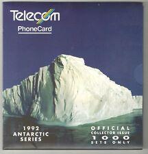 New Zealand 1992 Rare Antarctic Phonecard Collector Pack  Mint
