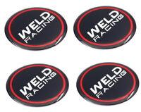 "* SET OF 4 WELD RACING EMBLEM STICKER 1.75"" DIAMETER FOR WHEEL RIM CENTER CAPS"