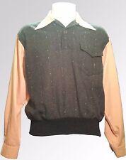 "Vintage 1950s Gaucho Gabardine Fleck Shirt Two Tone Size 38"" 40"" Elvis Rock Roll"