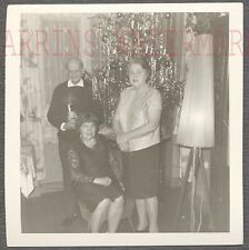 Vintage Photo Spaceship Rocket Lamp & Family Christmas Tree Home Interior 705435