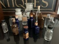 Selection Of 17 Apothocary Chemist Medicine Bottles