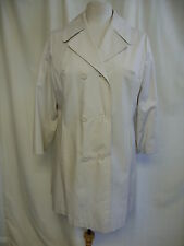 "Ladies Coat ivory showerproof UK 14, bust 40"", length 35"", lined, hand wash 8299"
