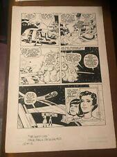 LOST IN SPACE Space Family Robinson #62 original art LAST PG ALIEN BATTLE