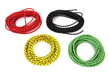 OLD SCHOOL CLOTH COVERED WIRE KIT 25' OF RED BLACK GREEN YELLOW HARLEY BOBBER
