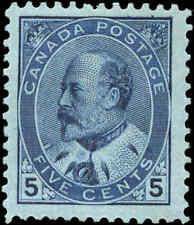 Canada Mint H  F+ Scott #91 5c1903 King Edward VII Issue Stamp