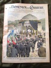 La Domenica del Corriere 4 Agosto 1901 Re Umberto-Alpinisti-1° Statua Re Umberto