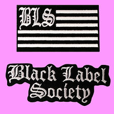 2 LOT Black Label Society BLS Flag Music Rock Band Embroidered Patches Iron On