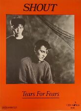 Tears For Fears-Shout-1985 Sheet Music-Original Australian issue-Very Rare!