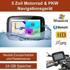 Elebest 5 Zoll PKW/Motorrad Navigationsgerät,Bluetooth,Wasserdicht,Radarwarner