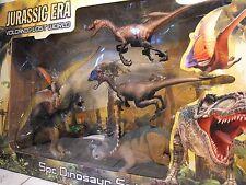 Jouet dinosaure Figures grand coffret de dinosaures réalistes T rex + Raptor Dino