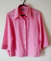 Shirt Blouse Ted Baker Size 2 Pink 3/4 Sleeve Tailored BNWOT UK Size M