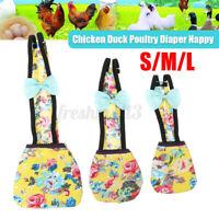 S/M/L Goose Duck Hen Chicken Pet Poultry Cloth Diaper Farm Adjustable Nappy