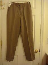 Mens Concepts By Claiborne Beige Flat Front Dress Pants Size 32 x 32 New Org $65
