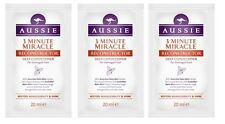 3 x 20ml  Aussie 3 Minute Miracle Reconstructor Deep Conditioner