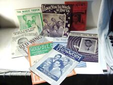 GROUP SHEET MUSIC W AL JOLSON BLACK FACE PLATTERS MILLS BROS COLE VALENTINO ++