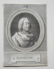 Gravure XVIIIème - Jacques-Bénigne Winslow - C.N Cochin Filius - A. Romanet