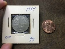 Germany 1954-G One Dutch Mark Coin 1 Deutsche Mark - Nice Condition - 12x Photos
