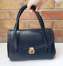 Vintage 60s Navy Blue Faux Leather Kelly Doctors Hand Bag Weymouth American JR