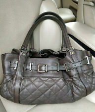 Burberry Quilted Lambskin Leather Hobo Easton Bag Shoulder Tote Satchel Shopper
