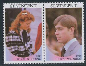 ST. VINCENT 1986 Wedding Prince Andrew & Sarah Ferguson VARIETY MISSING VALUES