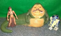 Star Wars Saga Collection Jabba The Hutt + Slave Princess Leia Dancer + R2D2 Lot