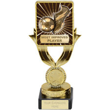FOOTBALL SOCCER MOST IMPROVED PLAYER QUALITY ENGRAVED FREE SQUAD TEAM TROPHIES